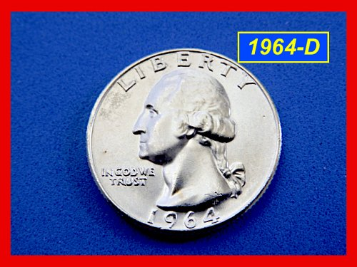 "1964-D   Washington Quarter  ✬   ""BU""  ✬ (#2741.b)a"