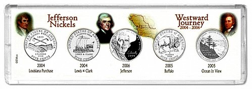 "Westward Journey 2004-S 2005-S and 2006-S 5-Coin ""PROOF"" Collector Set"
