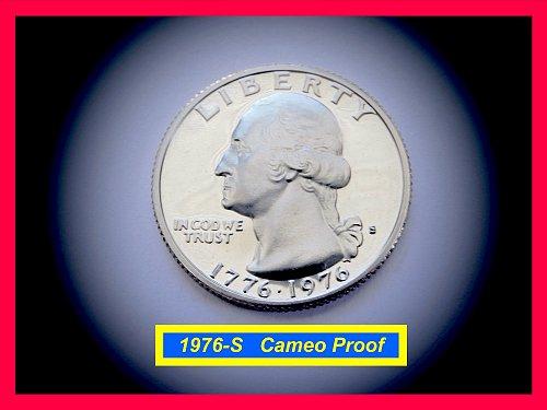1976-S PROOF Quarter ☆ ☆ CAMEO ☆☆  (#2668)a