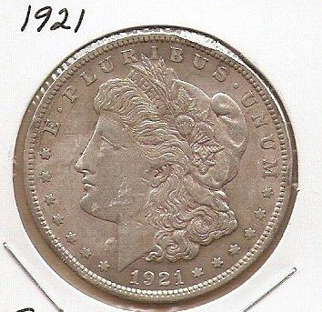 1921 P Morgan Silver Dollar