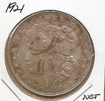 1921 P Morgan Silver Dollar FREE SHIPPING