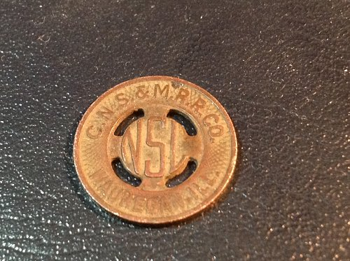 1940s transit trolley token