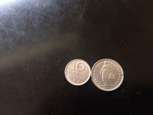 SWEDEN 10 ORE & FRANCE 1/2 FRANC