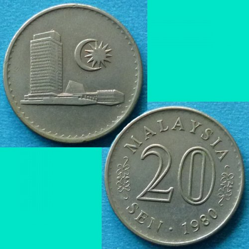 Malaysia 20 Cents 1980 km 4
