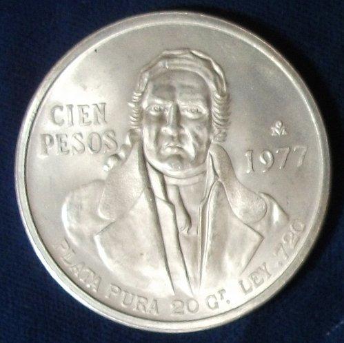 1977 Mexico/United States 100 Pesos UNC