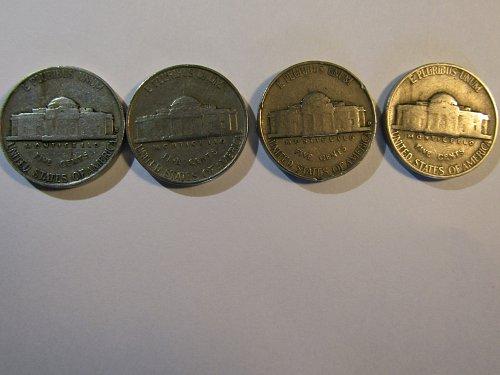 1938-D,1941-P,1941-D &1942-P Jefferson Nickels-Last chance /////