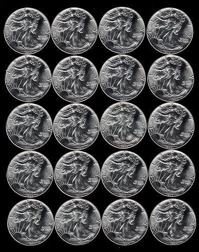 1988 American Silver Eagle. Full Tube of 20 from Mint.   /  DR43