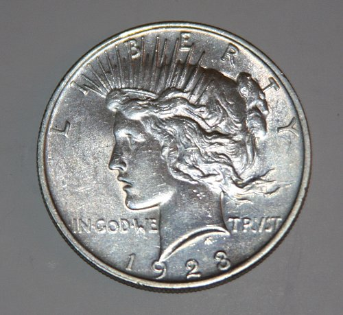 1923-P SILVER PEACE DOLLAR BEAUTIFUL COIN......BU....
