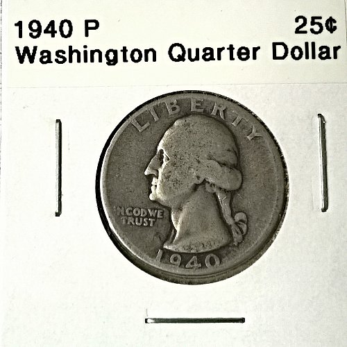 1940 P Washington Quarter Dollar - 6 Photos!