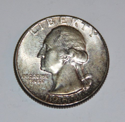 COLLECTIBLE SILVER 1963-P WASHINGTON QUARTER....MINOR FLAWS....AU...