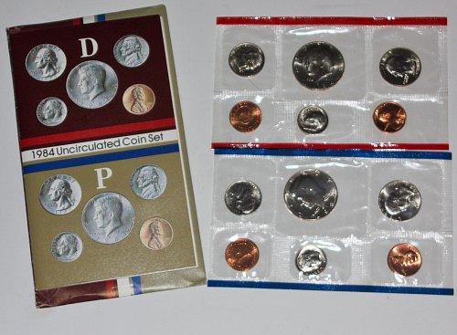 COLLECTIBLE 1984 P&D UN-CIRCULATED MINT COIN SET....1984-P SET 1984-D SET.....