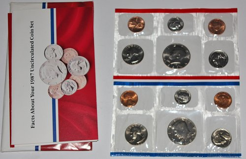 COLLECTIBLE SET 1987 P&D U.S. UN-CIRCULATED MINT COIN SETS...1987-P....1987-D CO