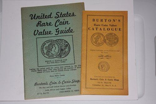 BURTON'S COIN & CURIO SHOP RARE COIN VALUE GUIDE & CATALOG MID CENTURY BOOKLET..