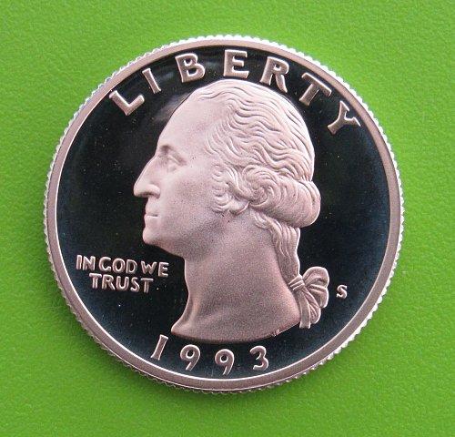 1993-S DC Silver Proof Washington Quarter