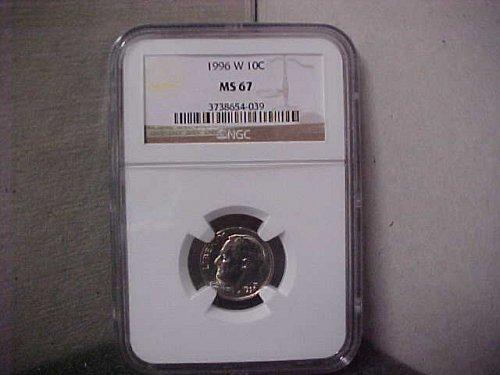 1996-W 10C NGC Roosevelt Dime MS67 #039
