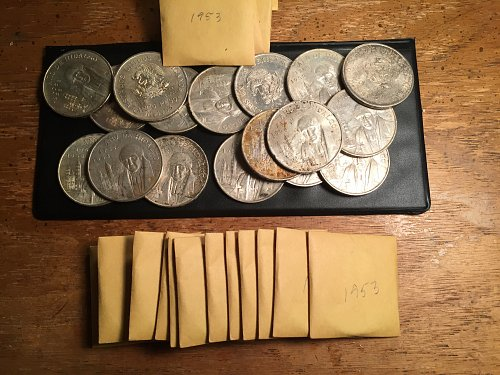1953 Mexico Five Dollar Peso (39) pieces /currently less than melt!
