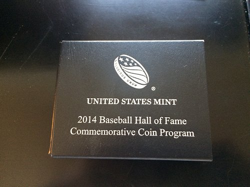 2014 BASEBALL HALL OF FAME COMMEMORATIVE COIN, UNC, HALF-DOLLAR.