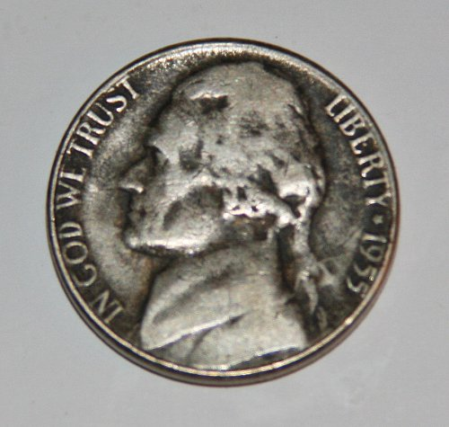 NICE LOOKING 1955-P JEFFERSON NICKEL GREAT COLOR....
