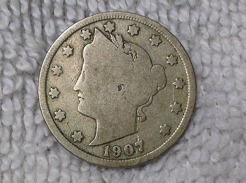 1907p Liberty nickel