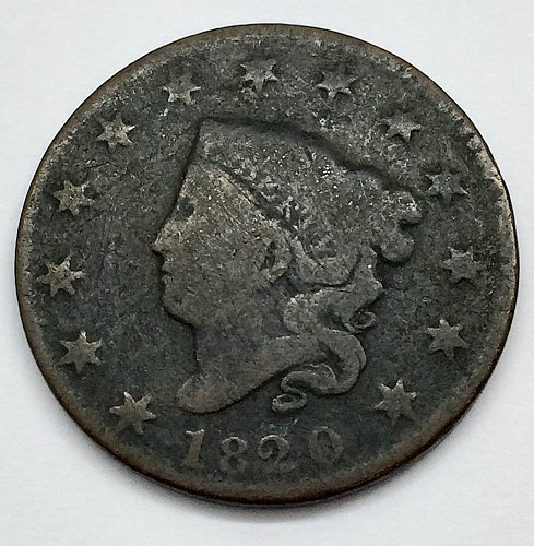 1820 Large Cent - Small Date