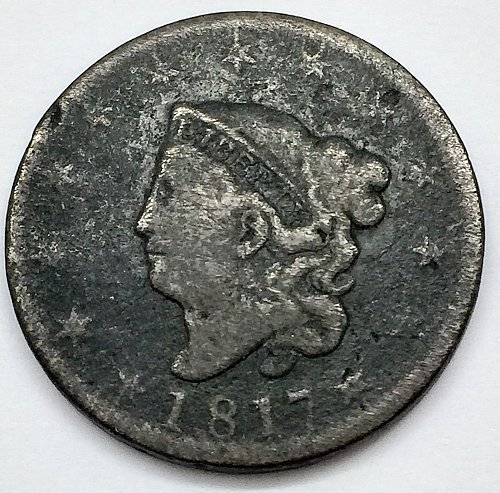 1817 Large Cent - 13 Stars