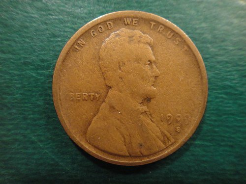 1909-S Lincoln Cent Very Fine-20- Well Defined Mintmark & Nice Surfaces Except .
