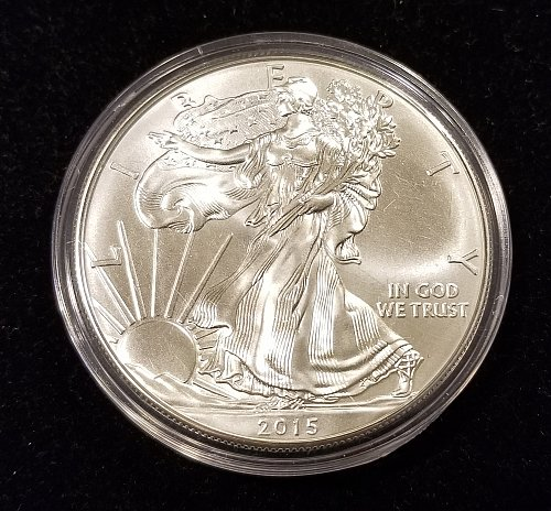 2015 Silver American Eagle in Air Tight