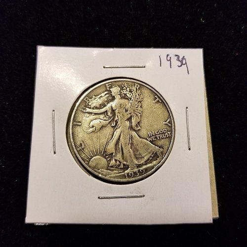 1939 Silver Walking Liberty Half Dollar