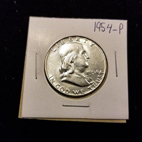 1954 Silver Franklin Half Dollar