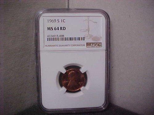 1969S 1C NGC MS64 RD #008