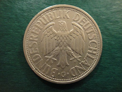 GERMANY (WEST) 2 Marks 1951-G Extra Fine-40 Unauthorized Mintage & KEY DATE!