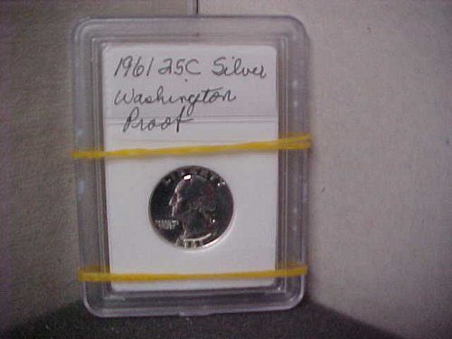 1961 25C Silver Washington Proof