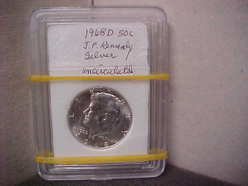 1968D 50C Silver MS J.F. Kennedy Uncirculated