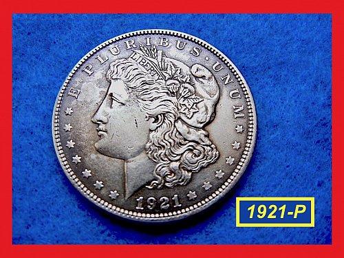 """1921-P Morgan Silver Dollar ★  """"AU"""" Condition  ★ (#5346)a"""
