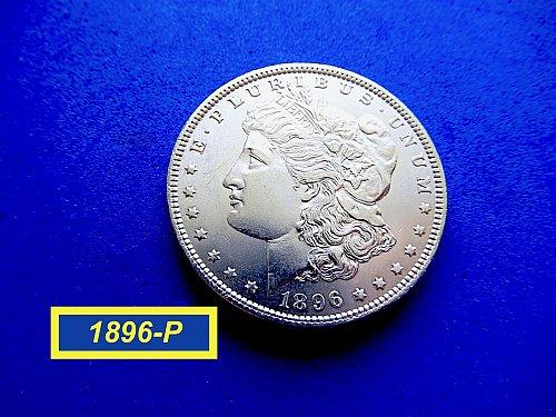 "1896-P Morgan Silver Dollar ★  ""UNCIRCULATED""  ★ (#5305)a"