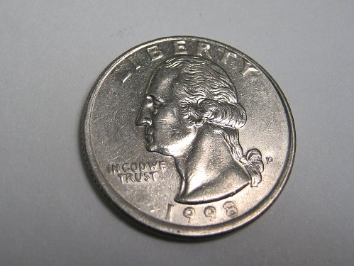 1998 D WASHINGTON QUARTER....OFF CENTER STRUCK.....NICE LOOKING COIN....