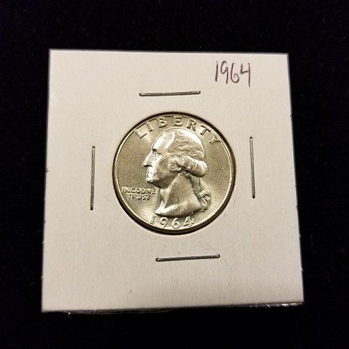1964 Silver Washington Quarter BU