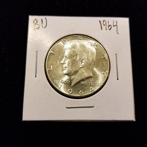 1964 Silver Kennedy Half BU