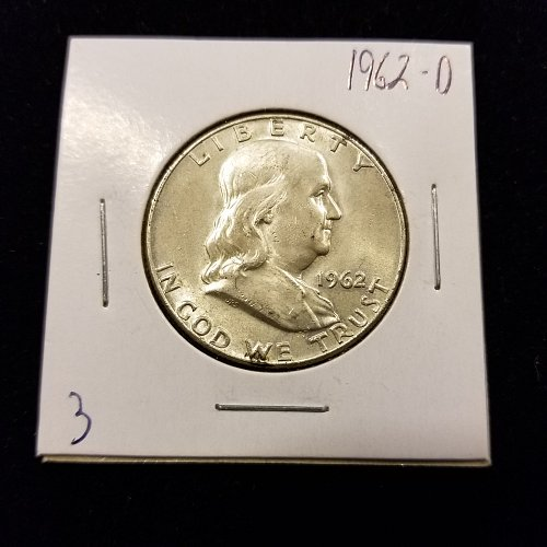 1962 D Silver Franklin Half Dollar 003