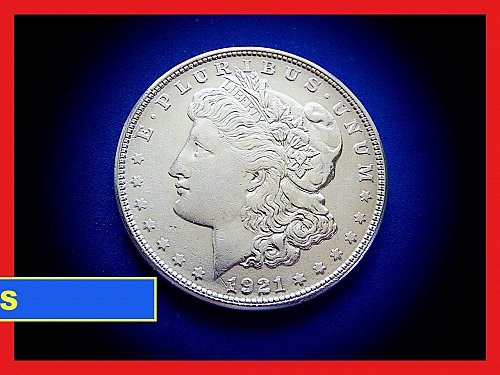 "1921-S Morgan Silver Dollar ★  ""AU"" Condition  ★ (#5405)a"