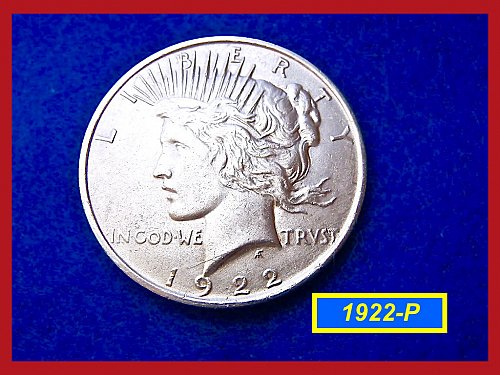 "1922-P  PEACE Dollar — ""XF"" Condition –  (#5333)a"