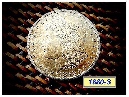 "1880-S Morgan Silver Dollar ★  ""AU""  Condition  ★ (#5403)a"