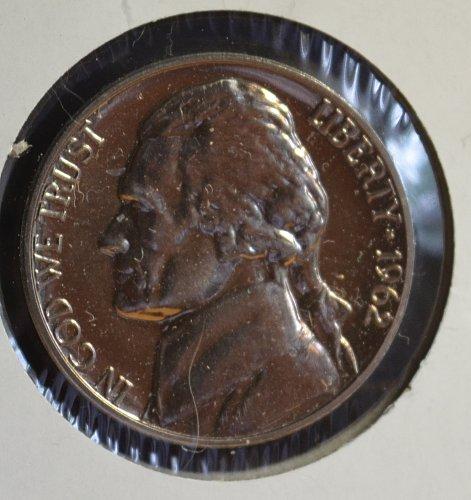 1962 P Jefferson Nickel Proof