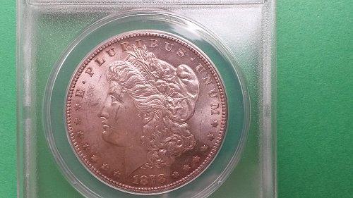 """1878 S MS63 Vam6 """"DDO RIB"""" Morgan Silver Dollar"""