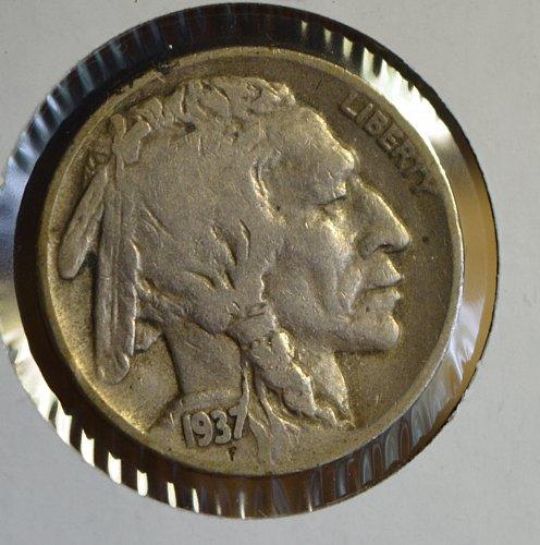 1937 D Buffalo (Indian Head) Nickel