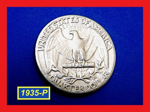 "1935-P  ""XF"" Washington Quarter  ✬  ✬  ✬  (#2665)a"