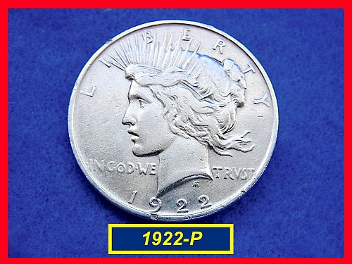 "1922-P  PEACE Dollar — ""VF"" Condition –  (#5349)a"