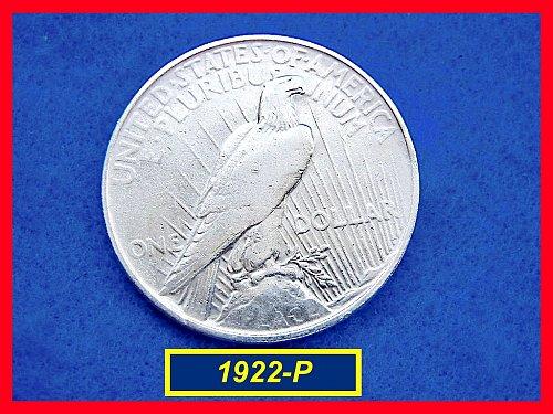 "1922-P  PEACE Dollar — ""VF"" Condition –  (#5349)a"
