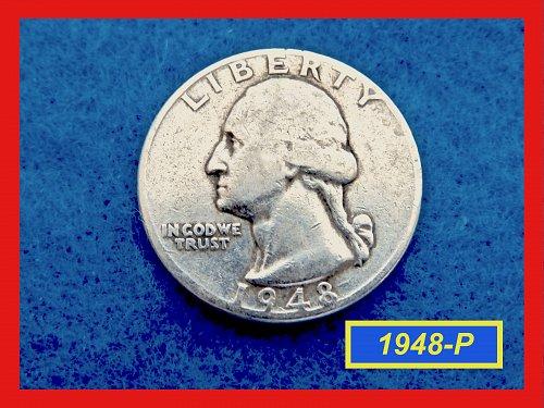 """1948   Washington Quarter ✬ """"VF-20""""   ✬★  (#2660)a"""