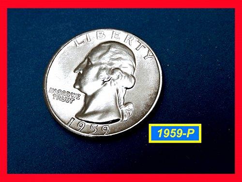 1959-P  Washington Quarter   ★  Gem BU   ★  (#2718)a